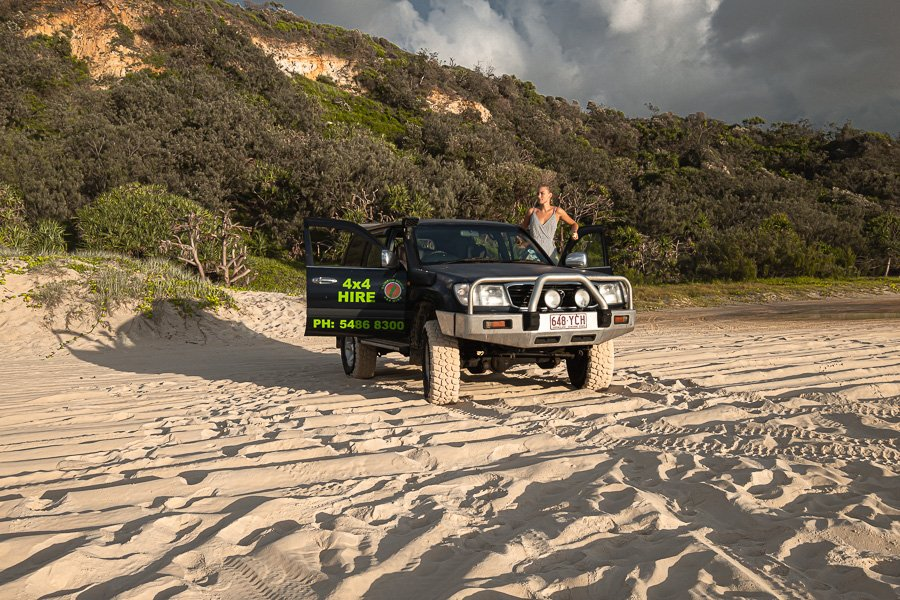 Travel guide Fraser Island, 75 mile beach road